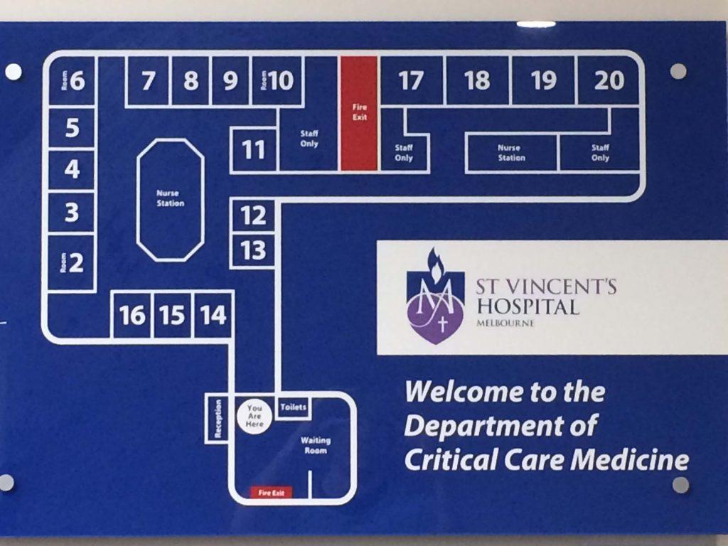 St Vincent's Hospital Melbourne ICU map